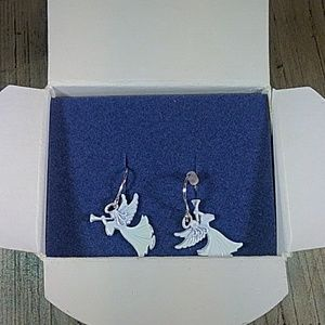NIB Christmas novelty angel earrings